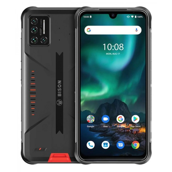 "UMIDIGI smartphone Bison, IP68/IP69K, 6.3"" FHD+, 6/128GB, 48MP, orange"